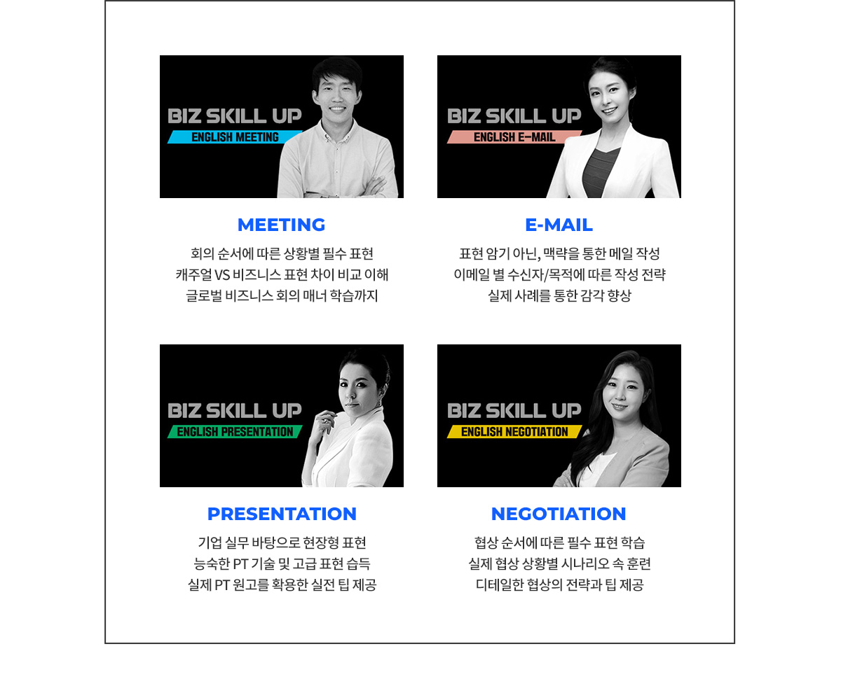 meeting/e-mail/presentation/negotiation